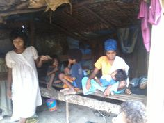 Dumagat community living near the Agos river at Brgy. Minahan Norte, General Nakar, Quezon Province