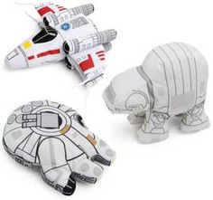For the little storm trooper in your family, these Star Wars vehicular plushies will be a big hit. Featuring the X-Wing fighter, the AT-AT, and of course, the...