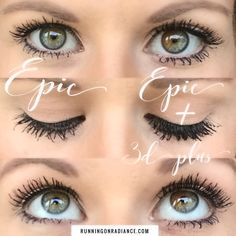 Younique's brand new epic mascara paired with 3d plus