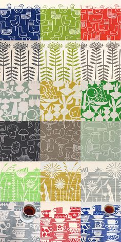 Lots of new tea towel colours from Skinny laMinx.