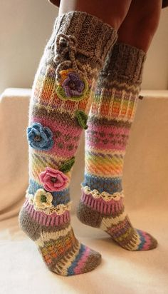 Wool socks Hand knit knee socks handknitted by WillowFairyJewelry – Knitting Socks Knitting Humor, Knitting Blogs, Knitting For Beginners, Knitting Socks, Hand Knitting, Rainbow Socks, Wool Socks, Women Legs, Knee Socks