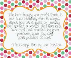 The Energy Bus Printables