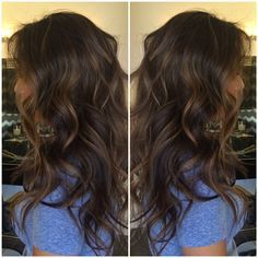 Soft highlights Starting color: Dark brown Goal: Natural looking highlights F O R M U L A::: 1. Flash bleach 30 vol with Olaplex Highlights 2. Tone with 9nb+ 8n shades EQ 5min 3. Rinse apply 5N at the root for 5 min ( I apply Olaplex conditioner on the ends at this time) 4. Lift ends of hair rinse base, Shampoo, condition, & dry.