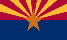 Arizona State Flag Coloring Pages #Arizona