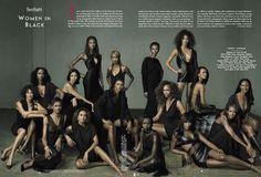 Vanity Fair celebrates african american models in their September 2001 issue.