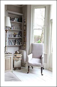reading nook: cozy space