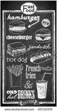 stock-vector-hand-drawn-fast-food-menu-on-chalkboard-197110379.jpg 239×470 pixels