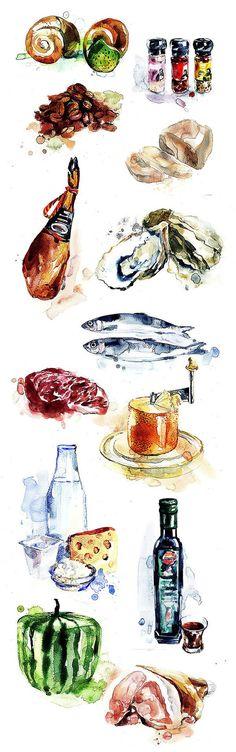 Food by Anna Simonova, via Behance