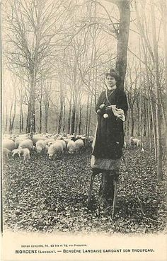 FRANCE-MORCENX-SHEPHERD WOMAN ON STILTS