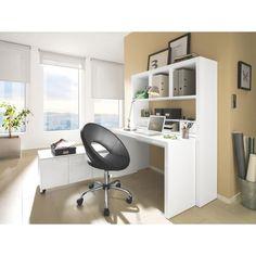 Funktionaler Schreibtisch in dezentem Weiß