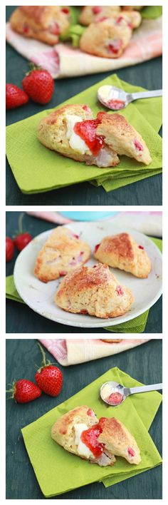 Strawberry Scones, crumbly with bits of strawberry in the scones. Best with strawberry jam, SO yummy | rasamalaysia.com