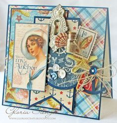 Love this By the Sea card by Gloria Stengel! Amazing! #graphic45 #cards