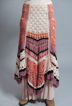 Длинная юбка крючком в стиле бохо. Вязание крючком в стиле бохо   Я Хозяйка