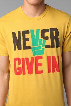 Never Give In Tee  #UrbanOutfitters
