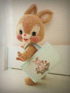 Good Afternoon sister,have a lovely afternoon, xxx❤❤❤💌 Felt Bunny, Cute Bunny, Cute Stuffed Animals, Cute Baby Animals, Needle Felted Animals, Felt Animals, Wet Felting, Needle Felting, Cute Toys