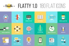 Check out Bundle of Flatty Icons 1.0 by Bloomua on Creative Market