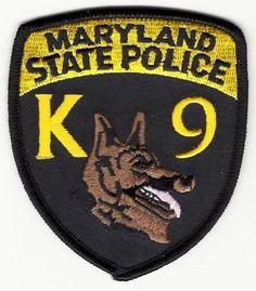 Maryland State Police K9  www.PoliceHotels.com