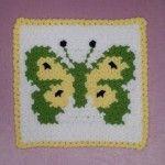 Kelebek Lif Örneği #washcloth #örgü #lif #knit #knitting #crochet