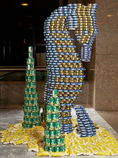 NYC Canstruction 2012 - Canstruction Photos - House Beautiful  made with canned goods