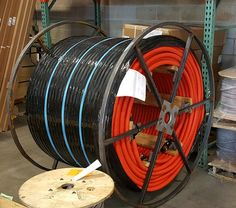Orange #corrugated #innerduct.  Ace doesn't only stock #wire!  #acewire #cable #conduit #reel
