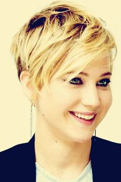 Cute Pixie Haircut - Hairstyles for Girls and women : Jennifer Lawrence Edgy Haircuts, Cute Short Haircuts, Cute Hairstyles For Short Hair, Short Hair Cuts For Women, Pixie Hairstyles, Pretty Hairstyles, Short Hair Styles, Pixie Haircuts, Hipster Hairstyles