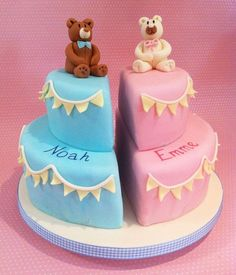 Marvelous Photo of Twin Birthday Cake Boy And Girl . Twin Birthday Cake Boy And Girl Boy Girl Twin Birthday Cake Ideas Stylh Creting Chrtening Cake Decorating Shop, Decorating Supplies, Ninja Turtle Birthday Cake, Twin Birthday Cakes, Twins Cake, Cake Makers, Cakes For Boys, Cakes For Twins, Girl Cakes