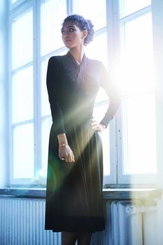 PRIMA BALLERINA black #riskmadeinwarsaw #allblack #christmaslook #total #look #inspiration #christmas #blackoutfit #classy #style