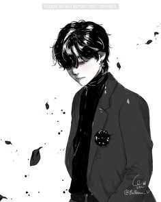 Anime Art, Taehyung Fanart, Cute Art, Manga Illustration, Art, Boy Art, Anime Drawings, Fan Art, Aesthetic Anime