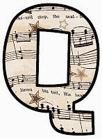 """ArtbyJean - Vintage Sheet Music Alphabet """"Q"""" Vintage Sheet Music, Vintage Sheets, Make Your Own Card, Alphabet And Numbers, Alphabet Letters, Elementary Music, Music Classroom, Music Education, Tag Art"""