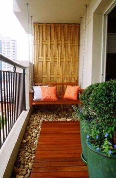 11 Spring Decorations for the Apartment -8. Bring it to the Balcony - While most Madison apartments feature a balcony, they tend to be under-utilized because the spaces aren't all that, well, spacious. You do have options, however.  Here are some great ideas for adding the right elements to your balcony. - Pebbles and wood are all the rage. Take a dated, boring balcony and make it TOTALLY custom!