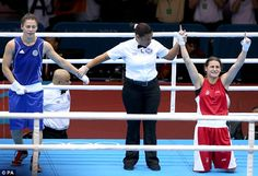 Katie Taylor of IReland beats Ochigava to Gold in Women's Lightweight boxing - Ireland's first gold! She brought the house down - well done! Katie Taylor, Boxing Posters, Taylormade, Boxers, Olympics, Beats, Pop Culture, Ireland, Bring It On