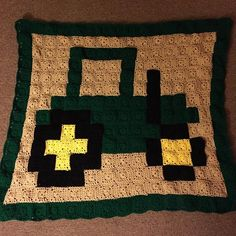 Tractor pixel crochet blanket by  meag_23
