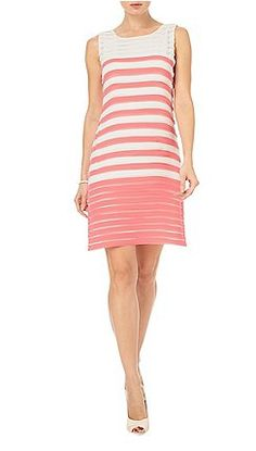 Phase Eight - Cream and Coral sophie ombre dress