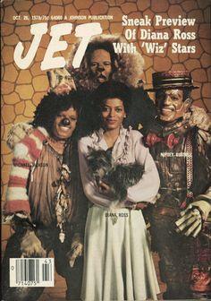 "Jet Magazine - ""The Wiz"" starring Michael Jackson and Diana Ross Jet Magazine, Black Magazine, Magazine Wall, Ebony Magazine Cover, Magazine Covers, Michael Jackson, Janet Jackson, New School Hip Hop, Essence Magazine"