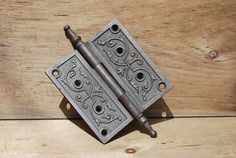 Antique Cast Iron Door Hinge by Psychedelphia on Etsy