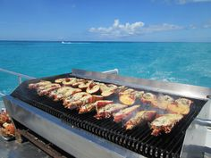 Best #cruise #excursion ever!!  Lobster & Champagne Lunch, served from the catamaran, sailing around #Antigua!