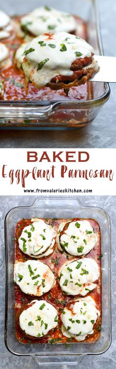 An oven-fry method creates this crispy Baked Eggplant Parmesan that rivals any fried version. An easy, updated take on the classic Italian dish.