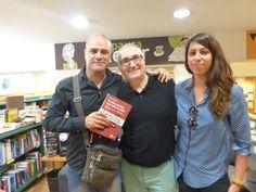 Con José Miguel Cruz y Marta Contreras en la presentación de Vuelve el listo que todo lo sabe en La Casa del libro de Barcelona