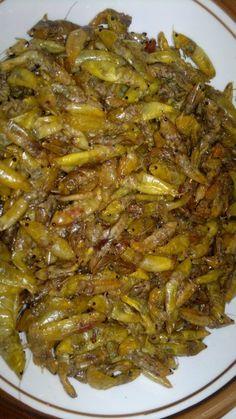 Fried grasshoppers...yummy!