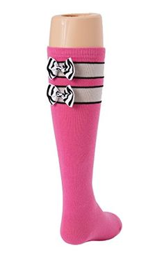 Pink Tot Jocks Girls Sports Socks Pink Black and Silver with Zebra Print Bow Kids Size 925 Soccer Volleyball Softball Field Hockey -- Check this awesome product by going to the link at the image.Note:It is affiliate link to Amazon.