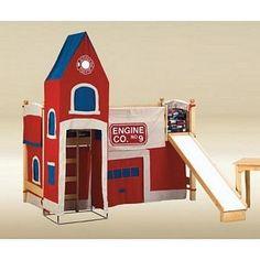 Covina Walnut Twin Loft Bed w/ Red Pop Tent #loftbed   Lively Loft Beds   Pinterest   Lofts Twins and Bunk bed & Covina Walnut Twin Loft Bed w/ Red Pop Tent #loftbed   Lively Loft ...
