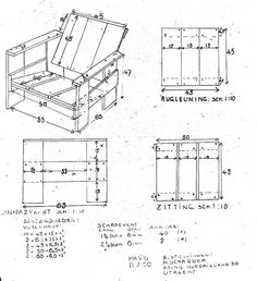 https://flic.kr/p/Dpm1QC | Gerrit Rietveld Crate Chair Plans Plus Iso | Uncleverly purloined from the old interweb.