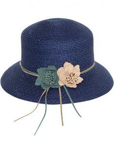 c6433384384fa Dahlia Women s Summer Sun Hat - Double Suede Flower Straw Bucket Hat Sun  Hats For Women