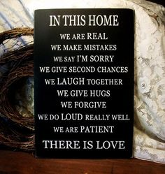 Beautifully stated.  Family Sign | There is Love | Wood Painted Plaque by CountryWorkshop on Etsy.