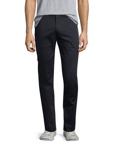 VINCE Flat-Front Stretch Sateen Pants. #vince #cloth #flats
