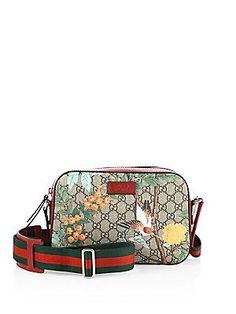 Gucci Tian GG Supreme Shoulder Bag - Beige- - Size No Size