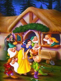Snow White en de zeven dwergen Cartoon Porn