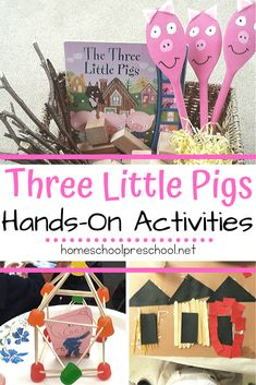Your kids will love diving deep into the story with these hands-on Three Little Pigs preschool activities! Worksheets, STEM challenges, and crafts galore! 3 Little Pigs Activities, Educational Activities For Preschoolers, Hands On Activities, Preschool Activities, Montessori Kindergarten, Pig Crafts, Book Crafts, Preschool Crafts, Reptiles