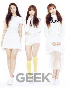 Lovelyz Jisoo, Kei and Sujeong. Geek March 2016