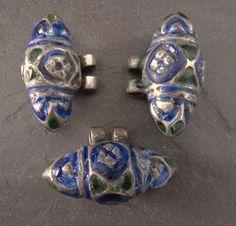 Three Vintage Enamelled Multan Pendants Pakistan by GEMILAJewels, $145.00